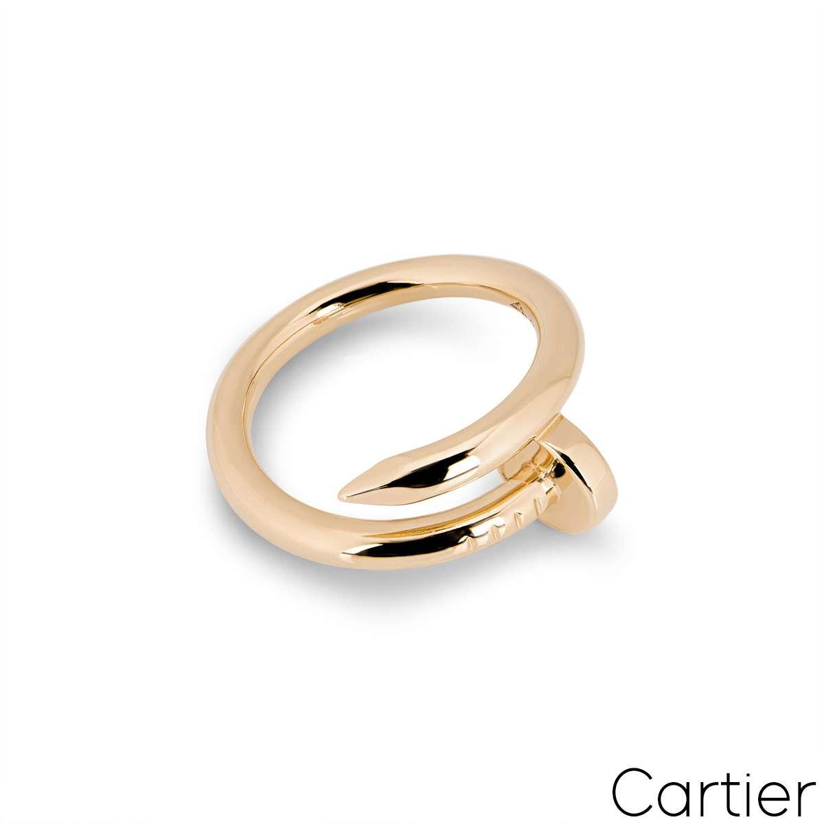 Cartier Rose Gold Plain Juste un Clou Ring Size 51 B4092500